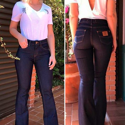 Calça Jeans Feminina Flare | Peça Rara
