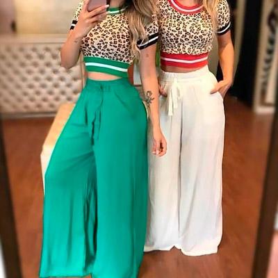 Calça Pantalona Feminina | Espaço SD Modas