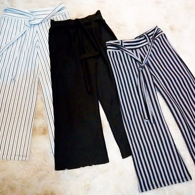 Calça Pantalona com Listras | Lady Mary