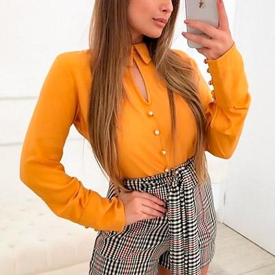 Camisa em Visconde Amarela | IV Estações Store