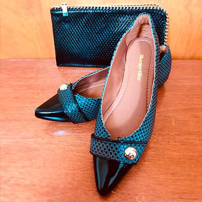 Sapatilha de Bico Fino Feminina | Evarios Calçados
