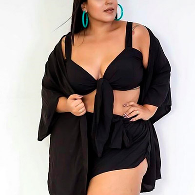 Top Cropped Plus Size com Amarração | Lili Elegância Plus