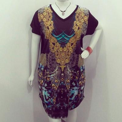 Vestido Feminino Estampa Indiana | Roupa Bonita Plus Size