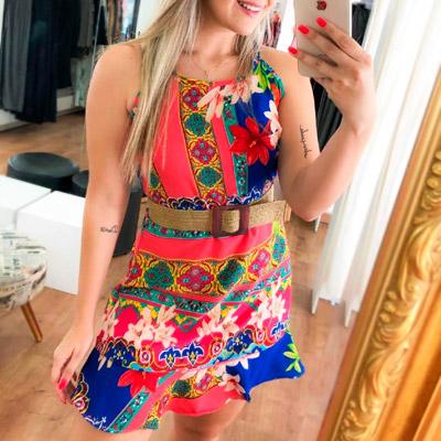 Vestido Floral com Babado | Jeito Delicado