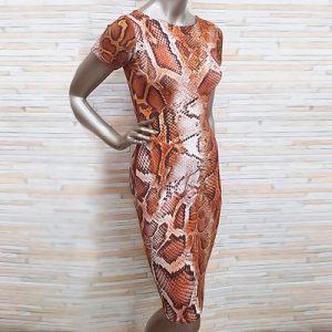 Vestido Midi Estampa Animal Print | Boutique da Lila