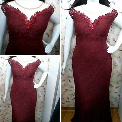 Vestido de Festa Longo Plus Size | Rogéria Modas e Acessórios