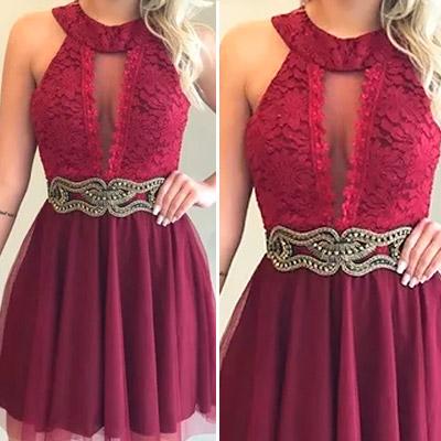 Vestido de Festa Marsala | Rogéria Modas e Acessórios