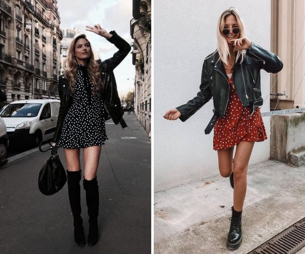 como usar jaqueta de couro dicas looks blog feira shop bh