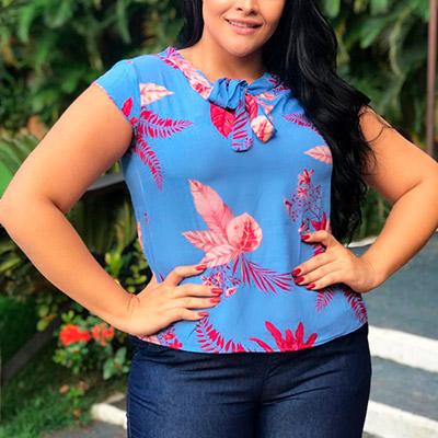 Blusa Feminina Plus Size | Eliane Dias Moda
