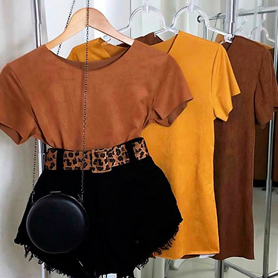 Blusa Suede Feminina | Orange Collection