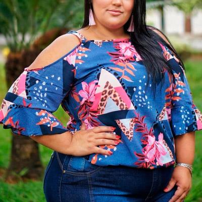 Blusa em Viscose Plus Size | Lili Elegância Plus