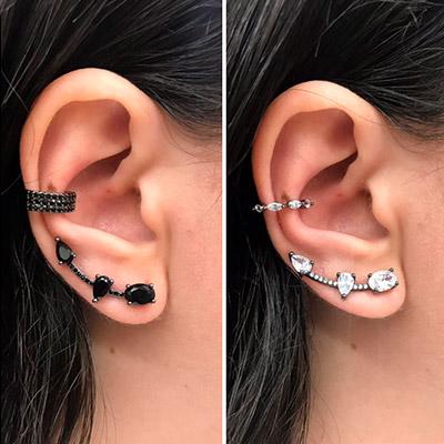 Brinco Ear Cuff Feminino   Cia do Capim