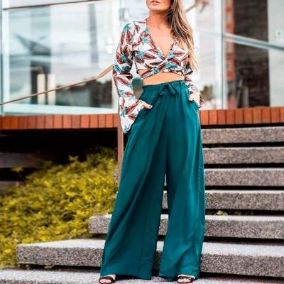 Calça Pantalona em Viscose | Thay Figuer