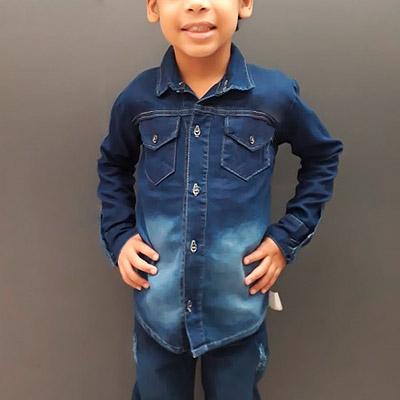 Camisa Jeans Infantil | Edkids