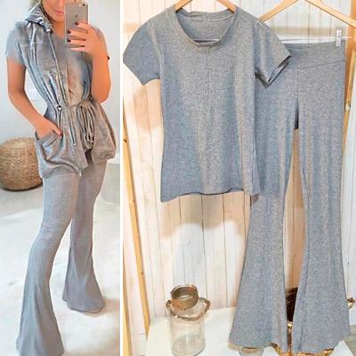 Conjunto Blusa e Calça Canelado | Peça Rara