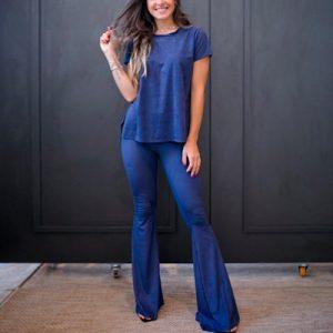 Conjunto Blusa e Calça Suede | Peça Rara