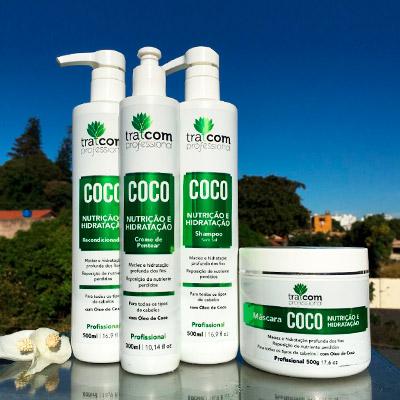 Kit Linha Coco Tratcom Professional | Segredos Hair Cosméticos