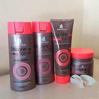 Kit Linha Silicone Force Barro Minas | Segredos Hair Cosméticos