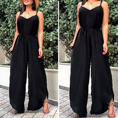 Macacão Longo Pantalona | Thay Figuer