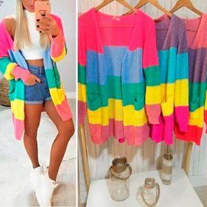 Maxi Tricot Multicolorido   Thay Figuer