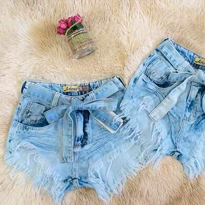 Short Feminino Jeans | Espaço Feminino