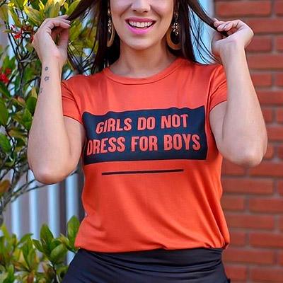 T-Shirt de Malha Feminina | Thay Figuer