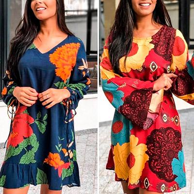 Vestido Feminino Estampa Floral | Moda Cherye