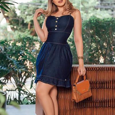 Vestido Jeans Feminino | Marina Maynarte Moda Feminina