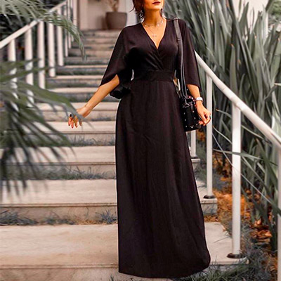 Vestido Longo Preto | Espaço SD Modas