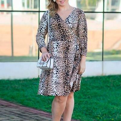 Vestido Plus Size Animal Print | Lili Elegância Plus