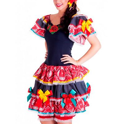 Vestido de Festa Junina   Moda Cherye