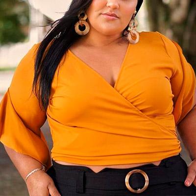 Blusa Plus Size Transpassada | Lili Elegância Plus