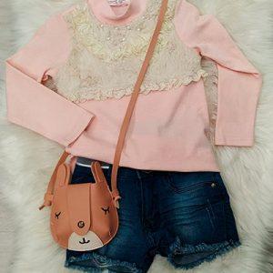 Blusa Rendada Infantil   Le Boutique Kids
