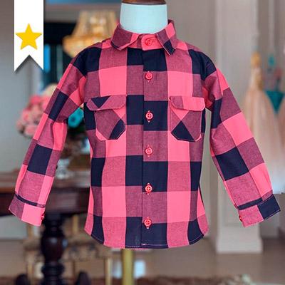 Blusa Xadrez Infantil   Cia do Vestido