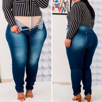 Calça Jeans Plus Size | Lili Elegância Plus
