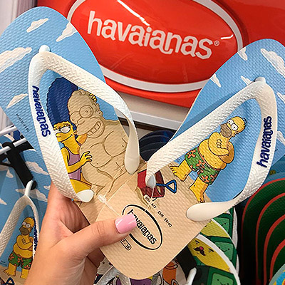 Chinelo Havaianas Homer Simpson | Chinelos&Cia