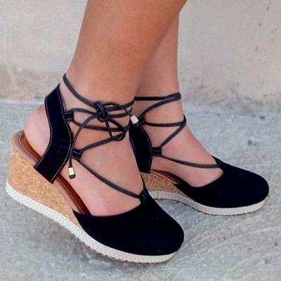 Sandália Anabela Flatform | Passarela Calçados
