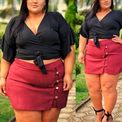 Short Saia Plus Size | Cheia de Charme