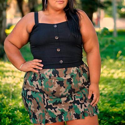 Short Saia Plus Size | Lili Elegância Plus
