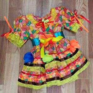 Vestido Infantil de Quadrilha | Sonho de Criança