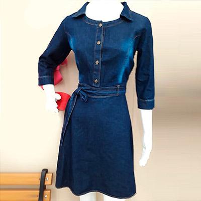 Vestido Jeans Feminino | RG Modas