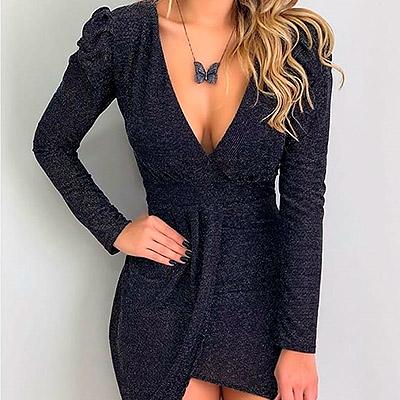 Vestido Lurex Feminino | Val'fashion