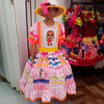 Vestido Quadrilha Adulto | Menina Morena Vestidos