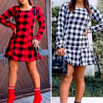 Vestido Xadrez Feminino | Divinamentechic