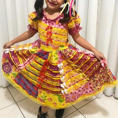 Vestido de Quadrilha Infantil | Girrafas