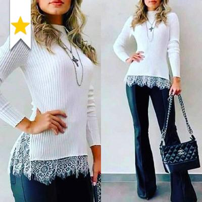 Blusa Malha Canelada | Passarela da Moda