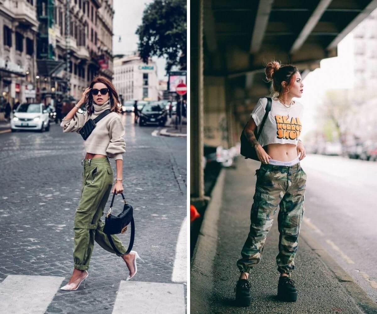 Como usar calça cargo dicas blog Feira Shop