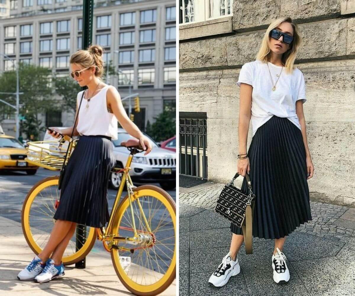 Como usar saia plissada dicas blog feira shop bh