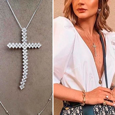 Colar Crucifixo Feminino | RosaMell Semijoias