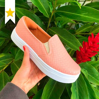 Slip-on flatform Rosa | Nonato's Calçados e Acessórios